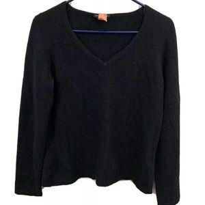 Ann Taylor 100% Cashmere Large VNeck Black sweater